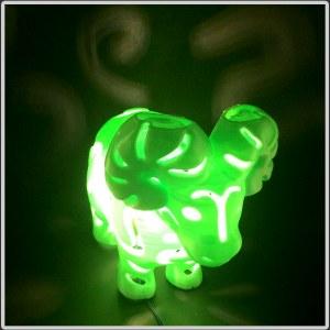 3D打印丝质PLA镂空小羊 18cm高