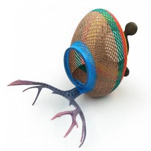 3D打印创意镂空鹿角鸟笼